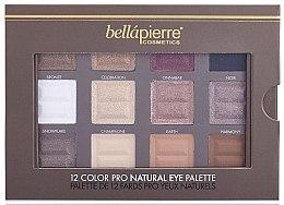Paleta cieni do powiek - Bellapierre 12 Colour Pro Natural Eye Palette — фото N2