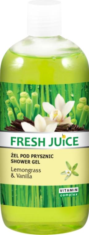 Żel pod prysznic Trawa cytrynowa i wanilia - Fresh Juice Sexy Mix Lemongrass & Vanilla