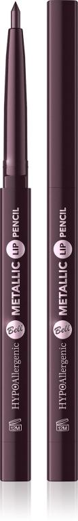 Hipoalergiczna kredka do ust - Bell HYPOAllergenic Long Wear Metallic Lip Pencil — фото N1