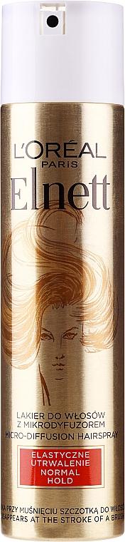 Lakier do włosów Elastyczne utrwalenie - L'Oreal Paris Elnett de Luxe Hairspray Flexible Consolidation