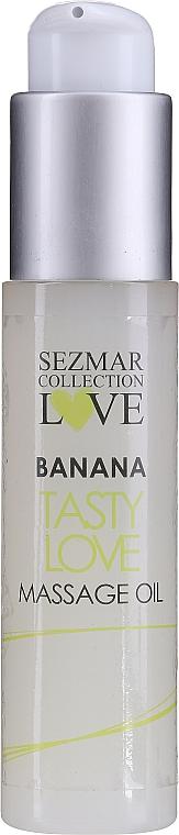 Bananowy olejek do masażu - Sezmar Collection Love Banana Tasty Love Massage Oil (miniprodukt) — фото N1