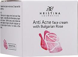 Kojący krem do twarzy z olejkiem różanym - Hristina Cosmetics Rose Anti Acne Face Cream — фото N2