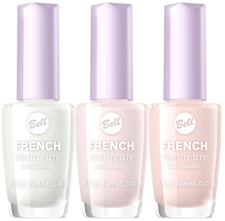 Lakier do paznokci - Bell French Manicure Nail Lacquer — фото N1