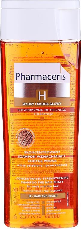 Skoncentrowany szampon wzmacniający do włosów osłabionych - Pharmaceris H H-Keratineum Concentrated Strengthening Shampoo For Weak Hair