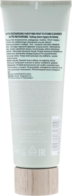 Oczyszczający preparat regenerujący do twarzy - Lumene Harmonia [Balance] Nutri-Recharging Purifying Peat To Foam Cleanser — фото N2