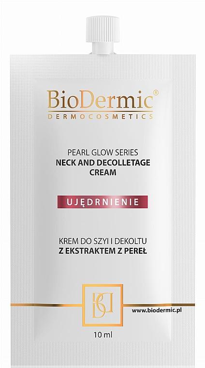 Ujędrniający krem do szyi i dekoltu z ekstraktem z pereł - BioDermic Pearl Glow Neck And Decolletage Cream (miniprodukt) — фото N1