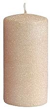 Kup Świeca dekoracyjna, różowo-złoty walec, 7 x 14 cm - Artman Glamour