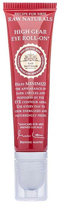 Nawilżający żel pod oczy w kulce dla mężczyzn - Recipe For Men RAW Naturals High Gear Eye roll-on — фото N1