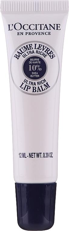 Nawilżający balsam do ust z masłem shea - L'Occitane Lip Balm 10 % Shea Butter