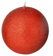 Kup Świeca dekoracyjna, czerwona kula, 8 cm - Artman Glamour
