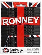 Kup Faliste wsuwki, czarne 60 mm, 100 szt. - Ronney Professional Black Hair Bobby Pins