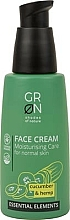 Kup Krem do twarzy - GRN Essential Elements Cucumber & Hemp Face Cream
