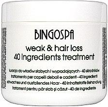 Kup Kuracja do włosów słabych i wypadających oraz po farbowaniu - BingoSpa Hair Treatment