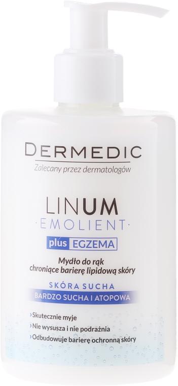 Emolientowe mydło do rąk chroniące barierę lipidową skóry - Dermedic Emolient Linum