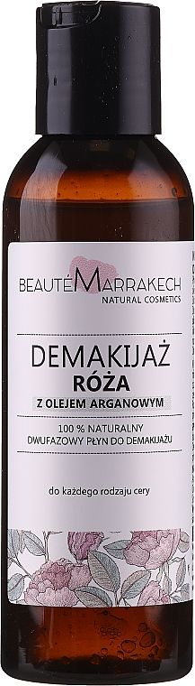 Naturalny różany dwufazowy płyn do demakijażu - Beauté Marrakech Natural Two-Phase Make-Up Remover Rose