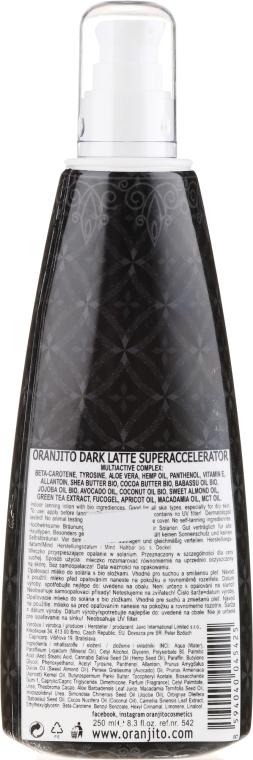 Mleczko do opalania - Oranjito Max. Effect Dark Latte Superaccelerator — фото N2