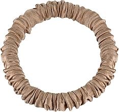 Kup Cienka gumka-scrunchie do włosów z naturalnego jedwabiu, złota Skinny - Makeup