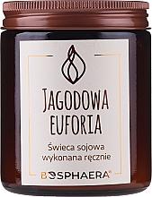 Kup Zapachowa świeca sojowa Jagodowa euforia - Bosphaera Berry Euphoria