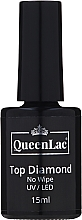Kup Top coat do lakieru hybrydowego - QueenLac Top Diamond No Wipe UV/LED