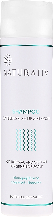 Szampon do włosów Łagodność, blask i wzmocnienie - Naturativ Getleness, Shine & Strength — фото N1