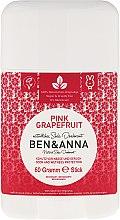 Kup Dezodorant na bazie sody w sztyfcie Różowy grejpfrut - Ben & Anna Natural Soda Deodorant Pink Grapefruit