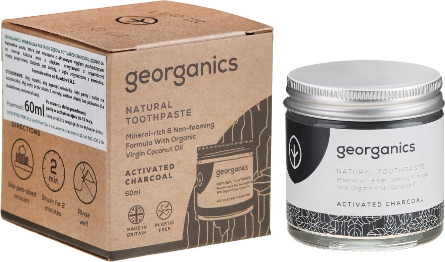 Naturalna pasta do zębów - Georganics Activated Charcoal Natural Toothpaste — фото N1