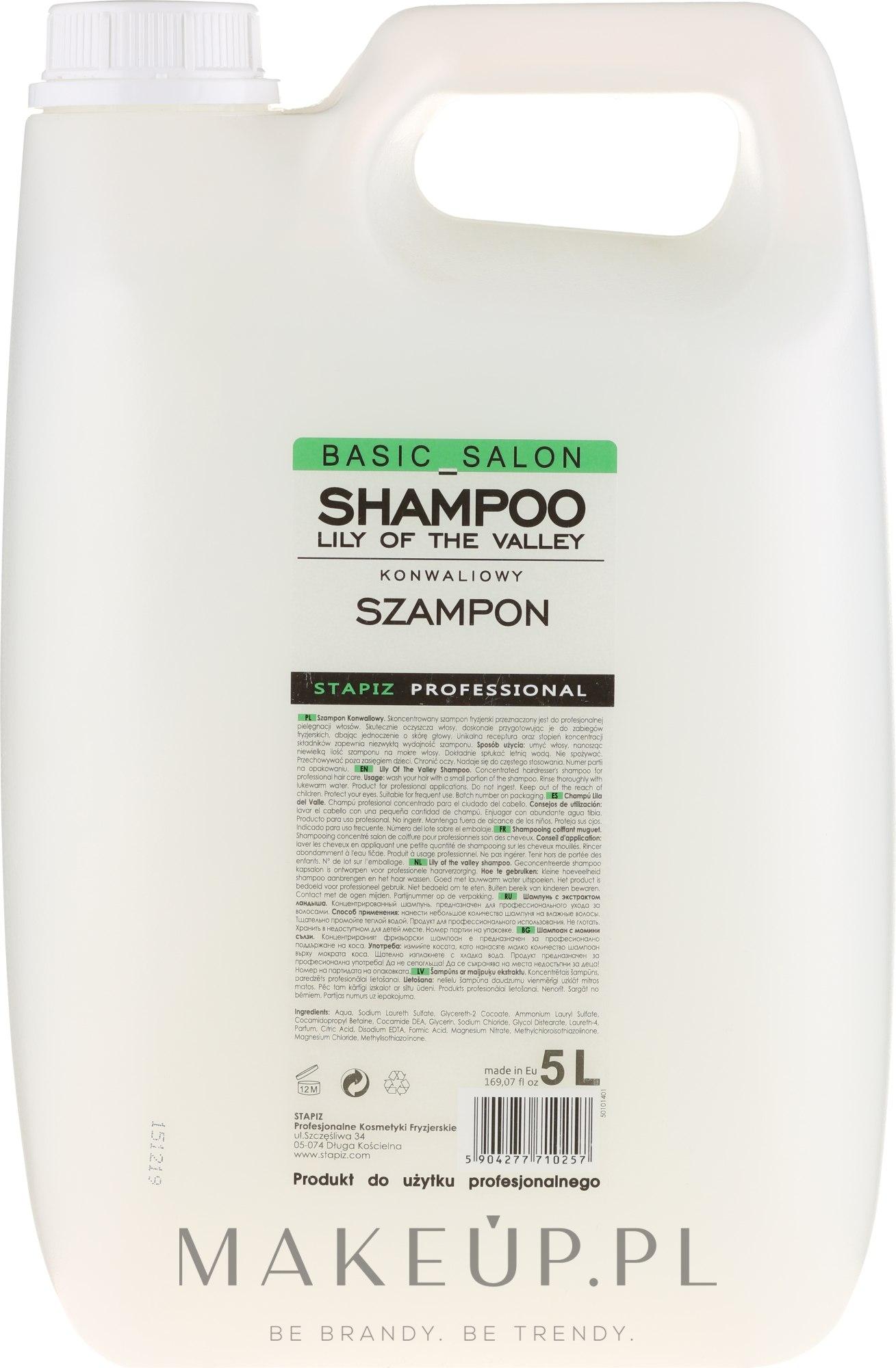 Konwaliowy szampon do włosów - Stapiz Basic Salon Shampoo Lily Of The Valley — фото 5000 ml