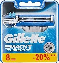 Wymienne ostrza do maszynki, 8 szt. - Gillette Mach3 Turbo — фото N4