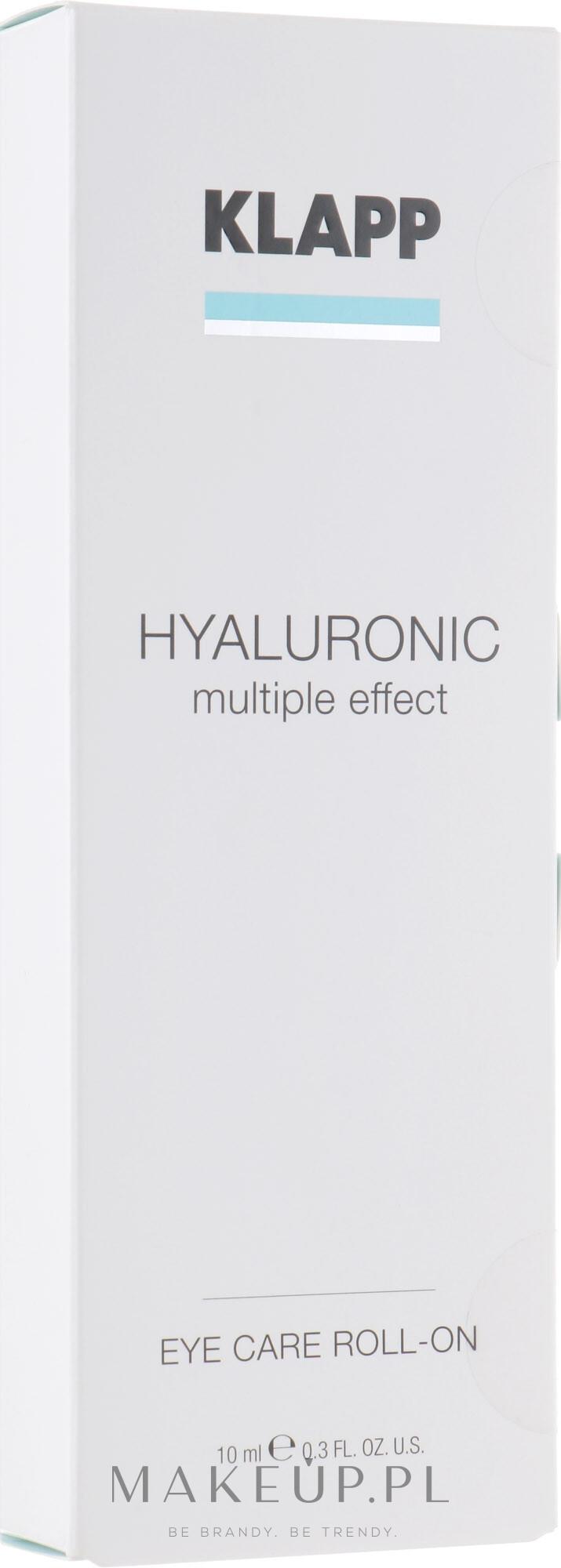 Hialuronowy żel do powiek - Klapp Hyaluronic Eye Roll-On — фото 10 ml