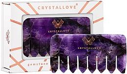 Kup Grzebień do masażu i skóry głowy ametystu - Crystallove