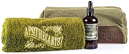 Kup Zestaw - Apothecary 87 Shave Kit (sh/oil/50ml + towel + bag)