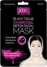 Kup Czarna węglowa maska detoksykująca na tkaninie do twarzy - Xpel Marketing Ltd Body Care Black Tissue Charcoal Detox Facial Face Mask