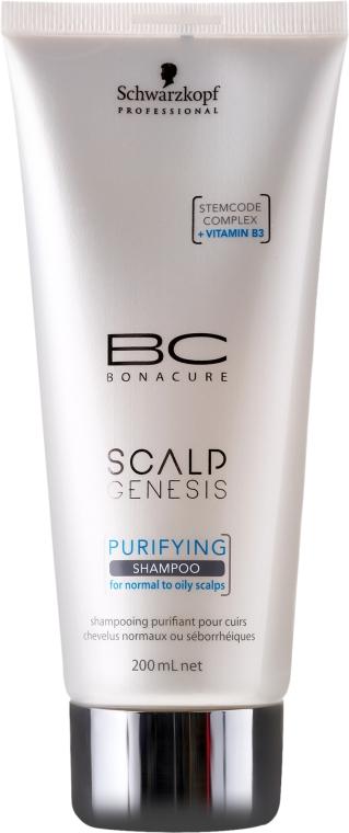 Oczyszczający szampon do włosów normalnych i tłustych - Schwarzkopf Professional BC Bonacure Scalp Genesis Purifying Shampoo — фото N1