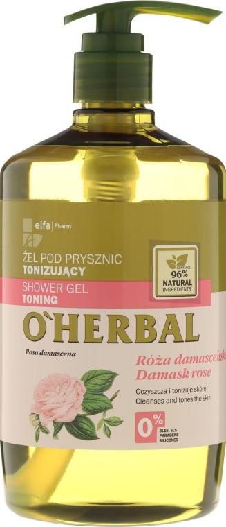 Tonizujący żel pod prysznic z ekstraktem z róży damasceńskiej - O'Herbal Toning Shower Gel