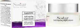 Kup Krem do twarzy na noc przeciw oznakom upływu czasu z olejem z konopi - Sostar Cannabidiol Anti-ageing Night Cream