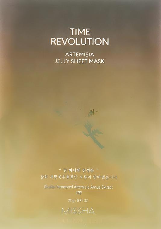 Nawilżająco-kojąca, żelowa maseczka w płachcie z ekstraktem z bylicy rocznej - Missha Time Revolution Artemisia Jelly Sheet Mask