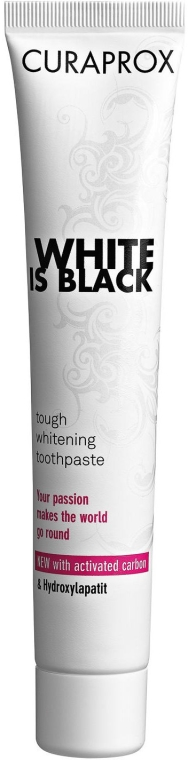 Wybielająca pasta do zębów - Curaprox Black Is White — фото N1