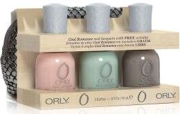 Kup Zestaw - Orly Cool Romance 3 Piece Gift Kit with Free Bag (nail/18ml + nail/18ml + nail/18ml + bag)