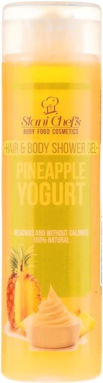 Naturalny żel pod prysznic do ciała i włosów Jogurt ananasowy - Stani Chef's Pineapple Yogurt Hair & Body Shower Gel — фото N1