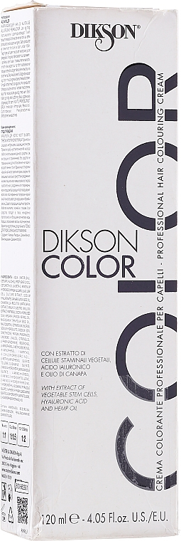 PRZECENA! Profesjonalny krem koloryzujący do włosów - Dikson Professional Hair Colouring Cream * — фото N4