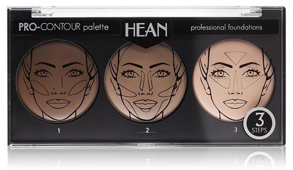 Paletka do konturowania twarzy 3 kolory - Hean Pro-Countour Palette — фото N1
