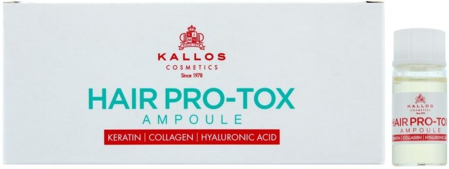 Ampułki do włosów osłabionych i zniszczonych - Kallos Cosmetics Pro-Tox Hair Ampoule