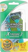 Kup Jednorazowe maszynki do golenia, 4+2 szt. - Wilkinson Sword Xtreme 3 Sensitive