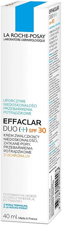 Krem zwalczający niedoskonałości skóry SPF 30 - La Roche-Posay Effaclar Duo (+) — фото N4