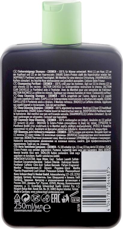 Szampon głęboko oczyszczający - Schwarzkopf Professional 3D Mension Deep Cleansing Shampoo — фото N2