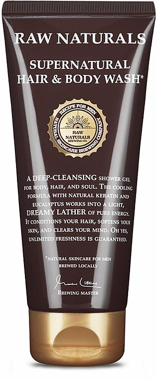 Oczyszczający żel pod prysznic do ciała i włosów - Recipe For Men RAW Naturals Supernatural Hair & Body Wash — фото N1