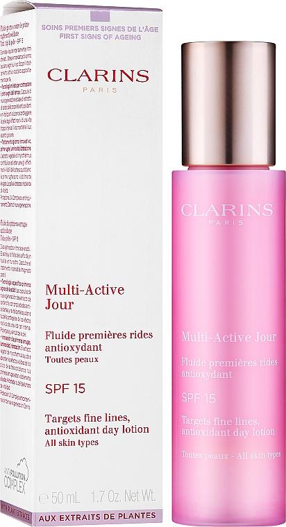 Przeciwzmarszczkowy lotion na dzień SPF 15 - Clarins Multi-Active Antioxidant Day Lotion SPF 15 — фото N2