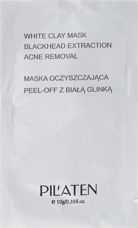 Maska peel-off oczyszczająca pory z glinką białą - Pilaten White Clay Mask Blackhead Extraction Acne Removal (próbka)