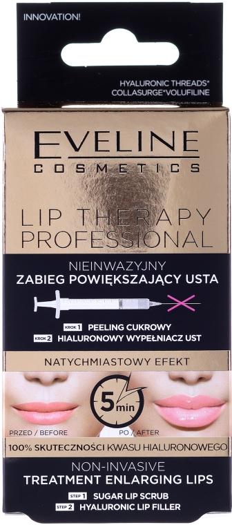 Zestaw Nieinwazyjny zabieg powiększający usta - Eveline Cosmetics Lip Therapy Professional (lip/scr 7 ml + lip/filler 12 ml)