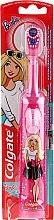 Kup Bardzo miękka szczoteczka do zębów dla dzieci, na baterie, Barbie, różowa w białe kropki - Colgate Electric Motion Barbie
